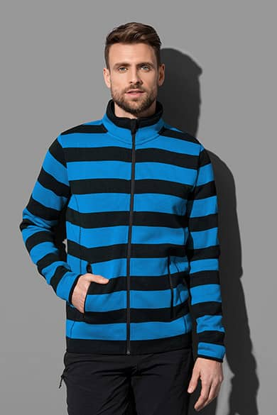 Active Striped Fleece Jacket